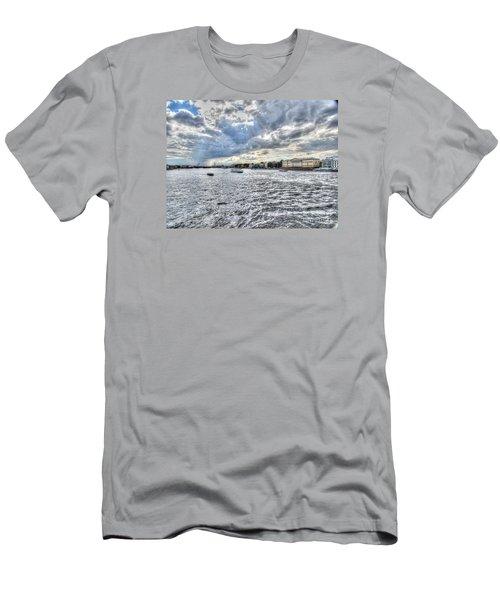 Men's T-Shirt (Slim Fit) featuring the pyrography Yury Bashkin Peterburg Russia by Yury Bashkin