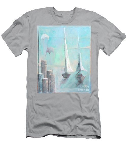 Men's T-Shirt (Athletic Fit) featuring the painting A Morning Memory by James Lanigan Thompson MFA