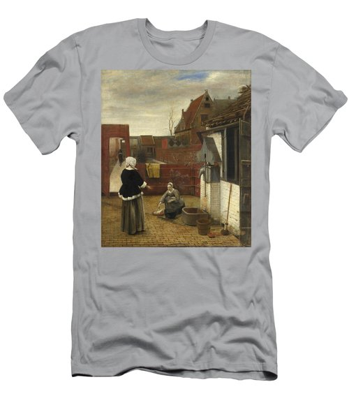 A Woman And Her Maid In A Courtyard Men's T-Shirt (Athletic Fit)