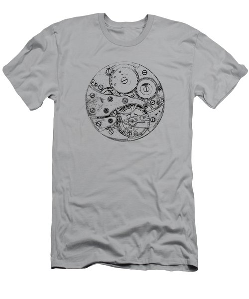 Men's T-Shirt (Slim Fit) featuring the digital art Clockwork Mechanism by Michal Boubin