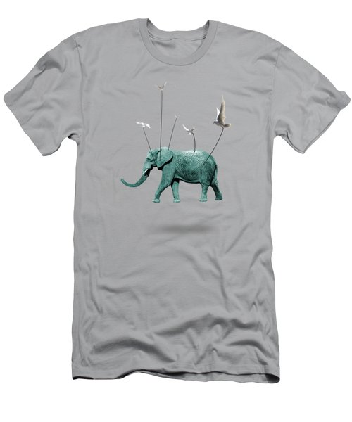 Elephant Men's T-Shirt (Slim Fit) by Mark Ashkenazi