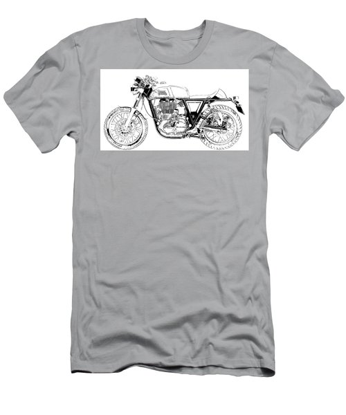 Motorcycle Art, Black And White Men's T-Shirt (Athletic Fit)