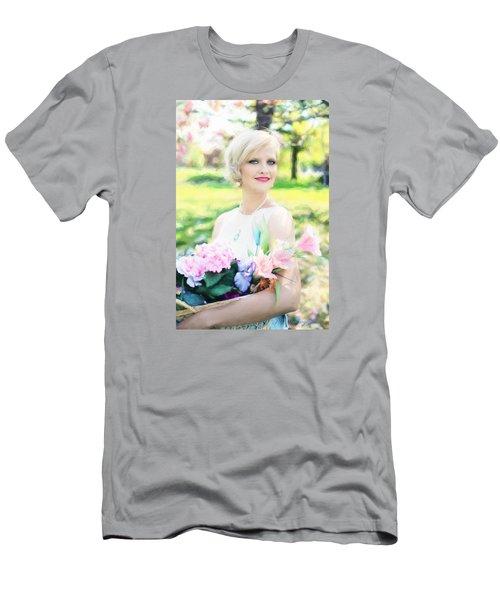 Men's T-Shirt (Athletic Fit) featuring the digital art Vintage Val Magnolias by Jill Wellington