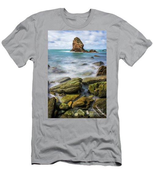 Men's T-Shirt (Slim Fit) featuring the photograph Gwenfaens Pillar by Ian Mitchell