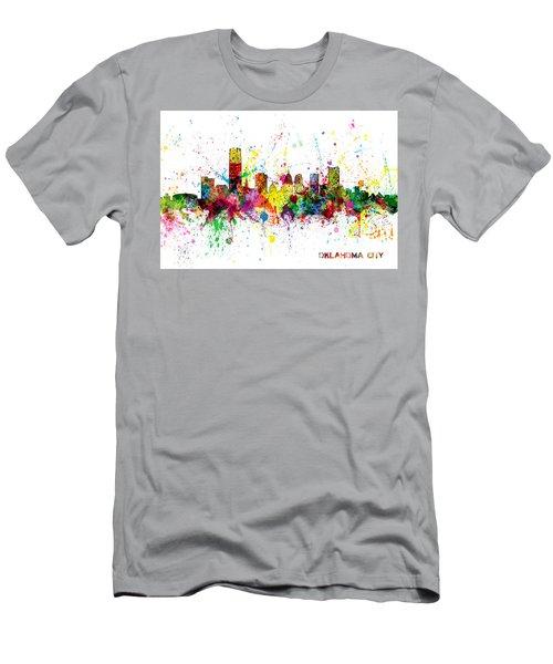 Men's T-Shirt (Slim Fit) featuring the digital art Oklahoma City Skyline by Michael Tompsett