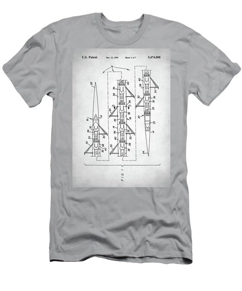 Men's T-Shirt (Slim Fit) featuring the digital art 8 Man Rowing Shell Patent by Taylan Apukovska