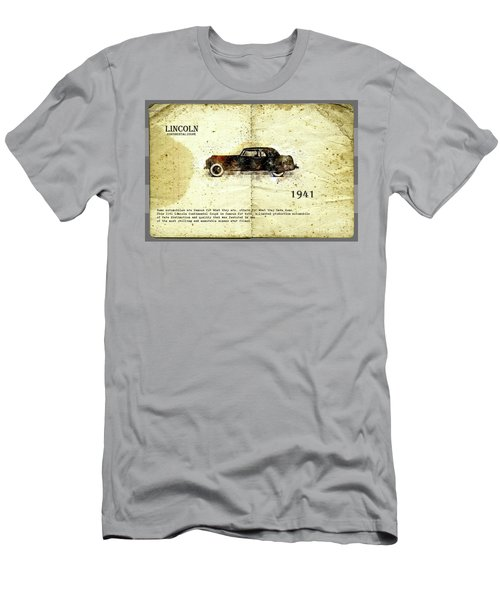 Men's T-Shirt (Athletic Fit) featuring the digital art Retro Car In Sketch Style by Ariadna De Raadt