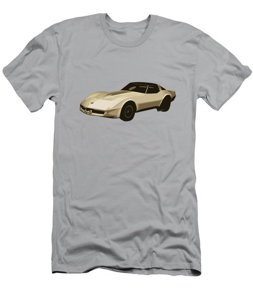 82 Corvette Generation C3 Digi Illustration Men's T-Shirt (Athletic Fit)