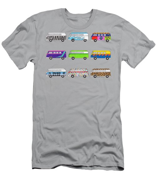 9 Wild Buses Men's T-Shirt (Athletic Fit)