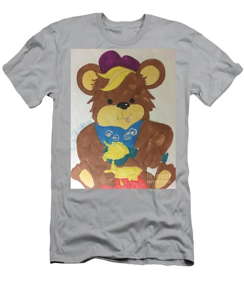 A Bear Loves Honey Men's T-Shirt (Athletic Fit)