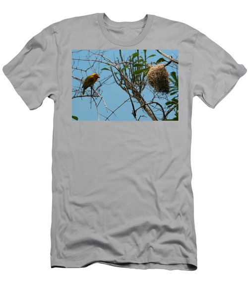 A Bird In 3d Men's T-Shirt (Athletic Fit)