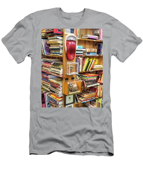 A Bookstore For All Tastes Men's T-Shirt (Slim Fit) by Greg Sigrist