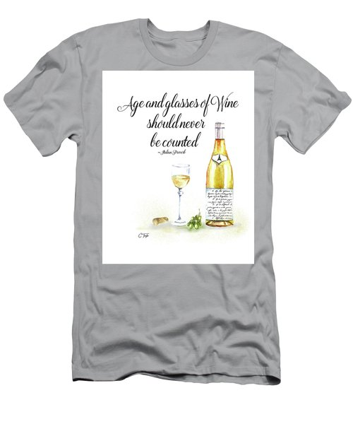 A Bottle Of White Wine Men's T-Shirt (Athletic Fit)