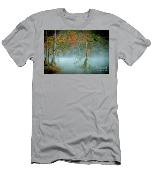 Men's T-Shirt (Slim Fit) featuring the photograph A Dancing Cypress by Iris Greenwell