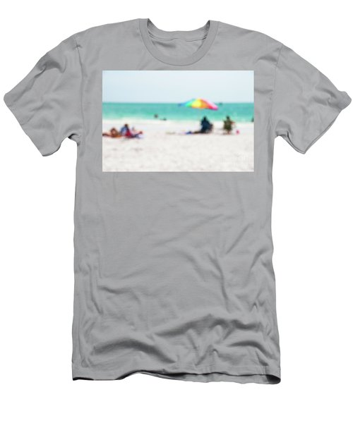 Men's T-Shirt (Slim Fit) featuring the photograph a day at the beach IV by Hannes Cmarits