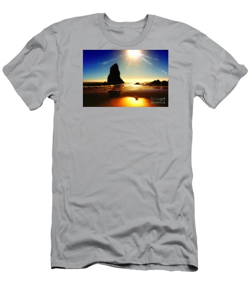 A Fire In The Sky Men's T-Shirt (Slim Fit) by Scott Cameron