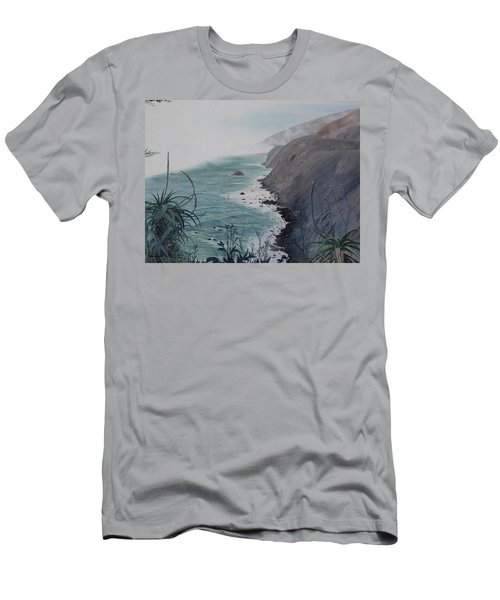 A Fog Creeps In Men's T-Shirt (Slim Fit) by Barbara Barber