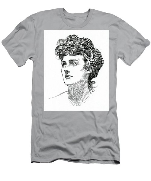 A Gibson Girl By Charles Dana Gibson Men's T-Shirt (Athletic Fit)