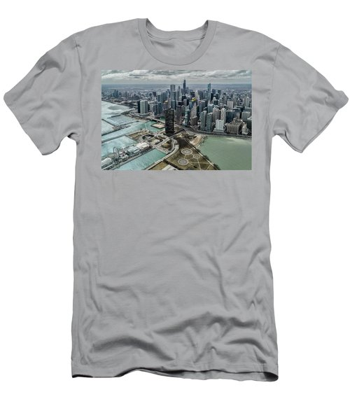 A Helicopter View Of Chicago's Lakefront Men's T-Shirt (Athletic Fit)