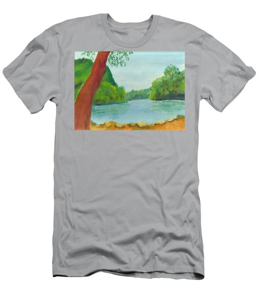 A June Day At Hidden Falls Men's T-Shirt (Athletic Fit)