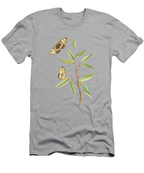A Kanalla Branch With A Butterfly By Cornelis Markee 1763 Men's T-Shirt (Athletic Fit)