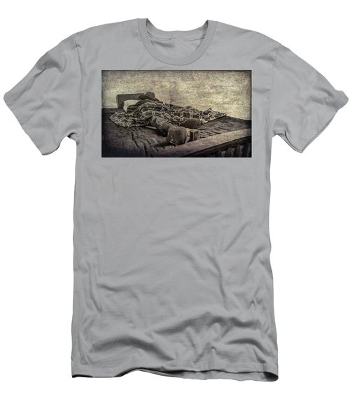 Men's T-Shirt (Slim Fit) featuring the photograph A Long Day On The Trail by Annette Hugen