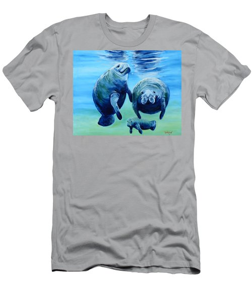 A Manatee Family Men's T-Shirt (Athletic Fit)