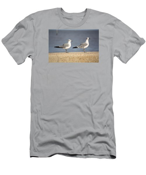 Men's T-Shirt (Slim Fit) featuring the photograph A Pair Of Gulls by Donna G Smith