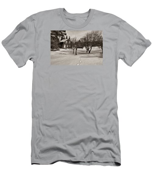 Men's T-Shirt (Slim Fit) featuring the photograph A Path To Home by Janice Adomeit