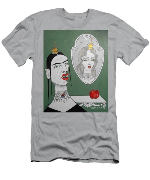 A Queen, Her Mirror And An Apple Men's T-Shirt (Athletic Fit)