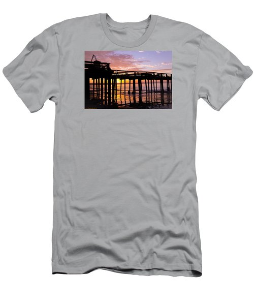 Men's T-Shirt (Slim Fit) featuring the photograph A Quiet And Beautiful Start by Lora Lee Chapman