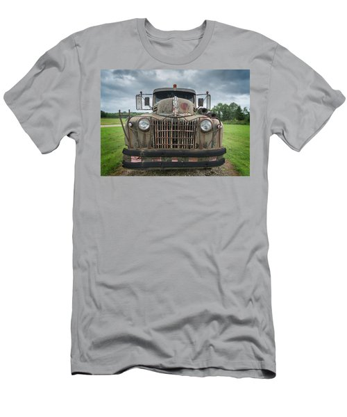 Men's T-Shirt (Athletic Fit) featuring the photograph A Really Rusty Ford by Guy Whiteley