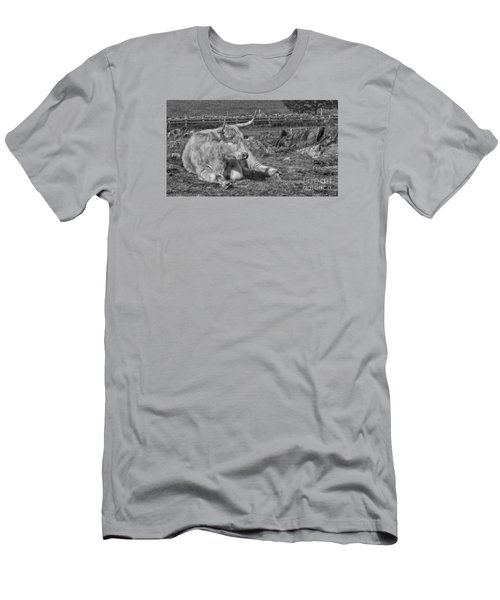 Men's T-Shirt (Slim Fit) featuring the photograph A Resting Highlander by Linsey Williams