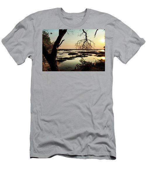 A River Sunset In Botswana Men's T-Shirt (Athletic Fit)