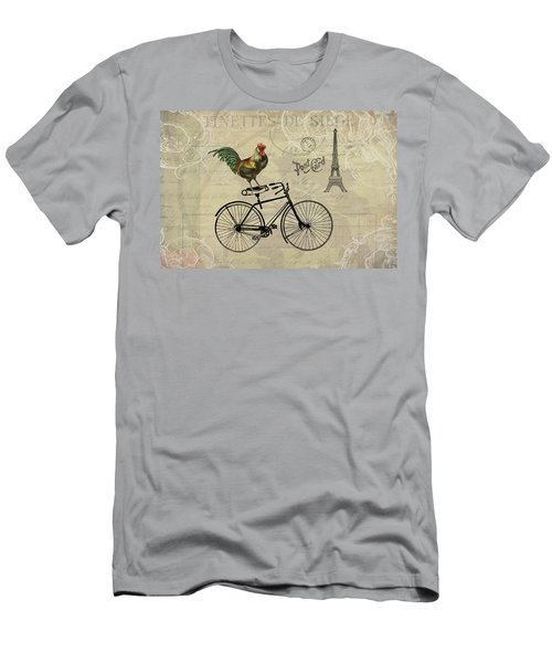 A Rooster In Paris Men's T-Shirt (Athletic Fit)