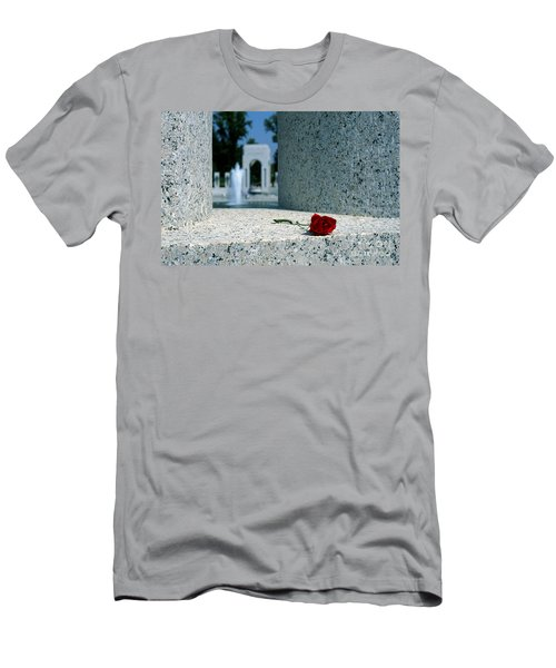 A Rose Memento At The World War II Memorial In Washington Dc Men's T-Shirt (Athletic Fit)