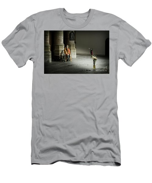 Men's T-Shirt (Slim Fit) featuring the photograph A Scene In Oude Kerk Amsterdam by RicardMN Photography