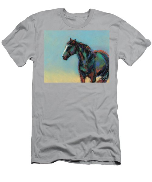 Men's T-Shirt (Slim Fit) featuring the pastel A Soft Breeze by Frances Marino