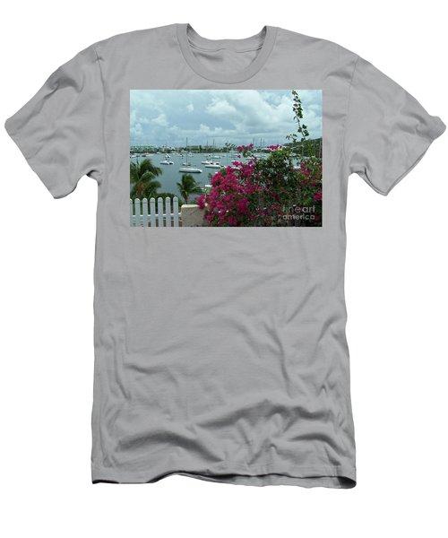 A St Maarten Marina Men's T-Shirt (Athletic Fit)