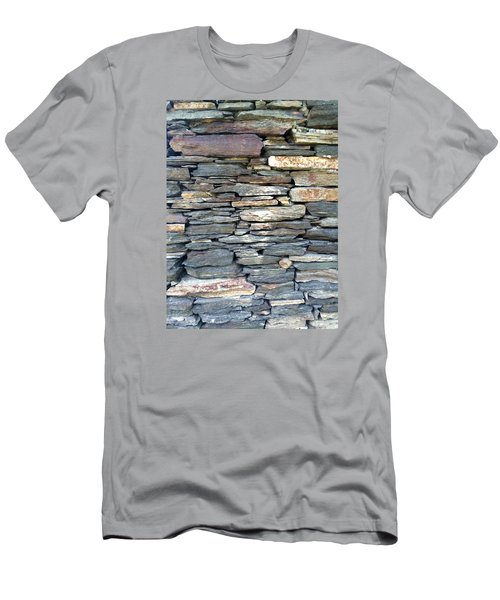 Men's T-Shirt (Slim Fit) featuring the painting A Stone's Throw by Angela Annas