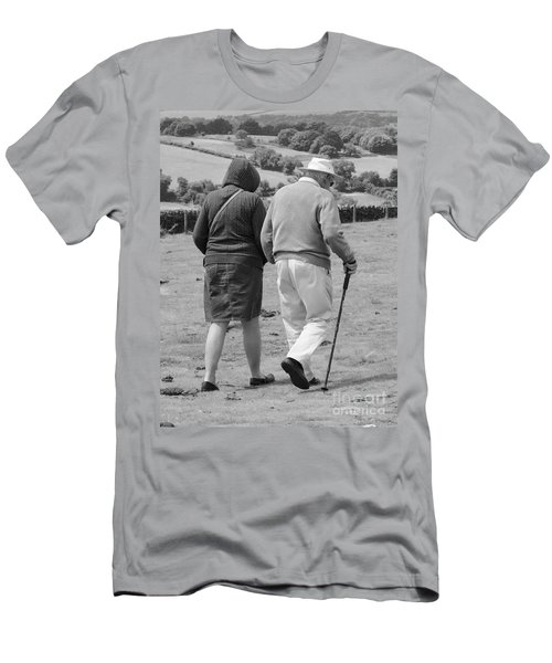 Men's T-Shirt (Slim Fit) featuring the photograph A Sunday Stroll In The Country by Linsey Williams