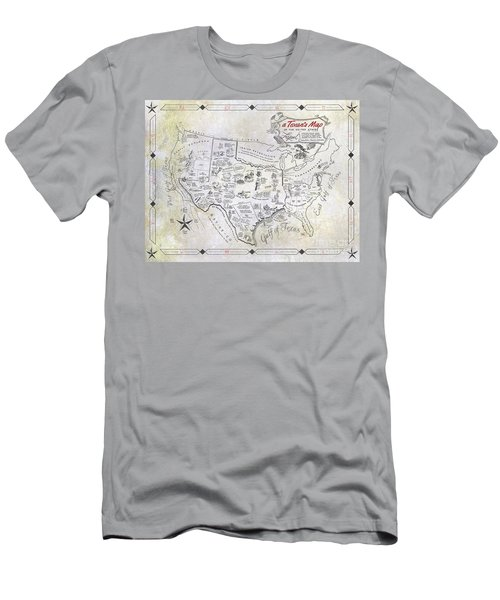 A Texan's Map Men's T-Shirt (Athletic Fit)