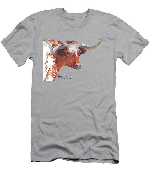 A Texas Longhorn Portrait Men's T-Shirt (Athletic Fit)