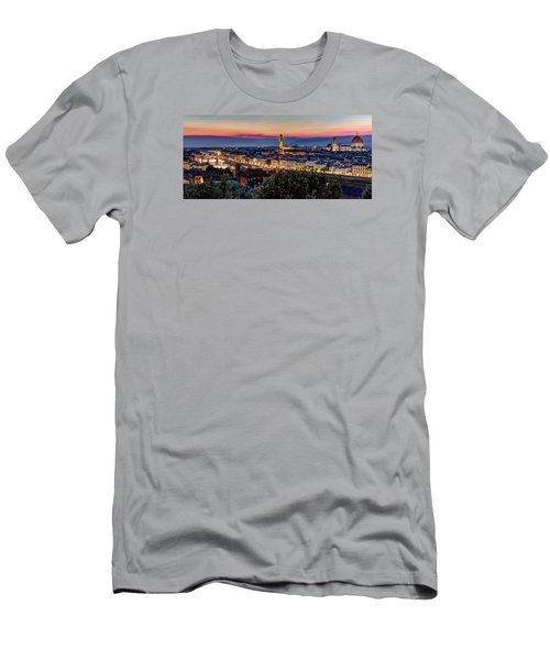 Men's T-Shirt (Slim Fit) featuring the photograph A View Of Florence by Brent Durken
