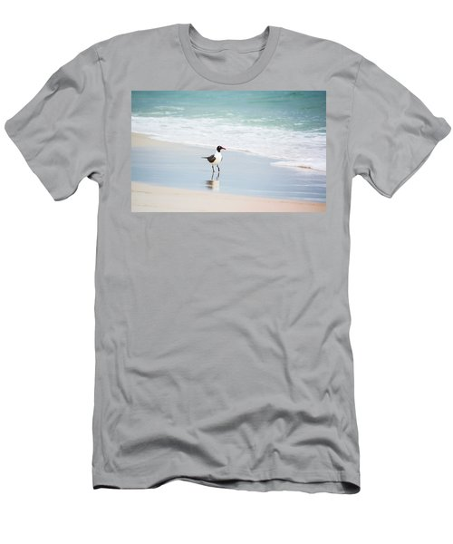 A Walk On The Beach Men's T-Shirt (Slim Fit) by Shelby  Young
