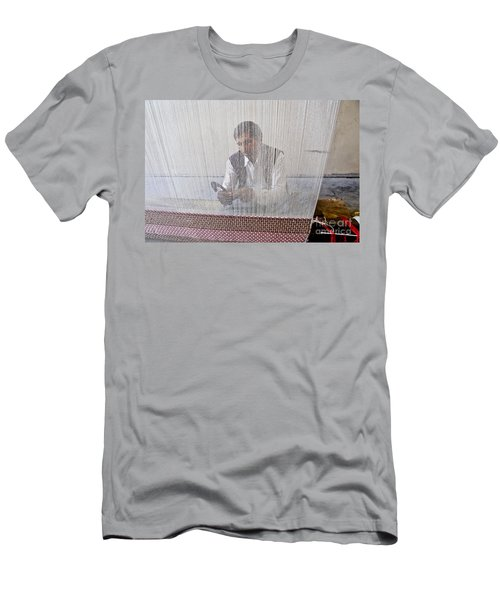 A Weaver Weaves A Carpet. Men's T-Shirt (Athletic Fit)