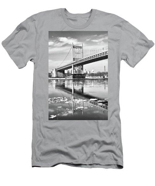 A Winter Portrait Of The Triboro Bridge Men's T-Shirt (Athletic Fit)