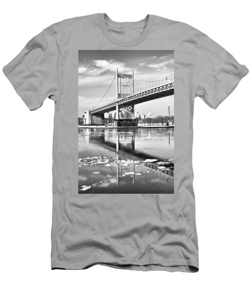A Winter Portrait Of The Triboro Bridge Men's T-Shirt (Athletic Fit)