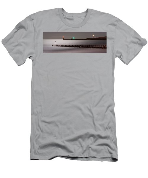 Aberdeen Beach At Night _ Pano Men's T-Shirt (Athletic Fit)