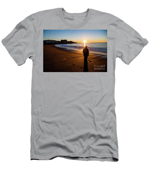 Aberystwyth Sunset Men's T-Shirt (Athletic Fit)